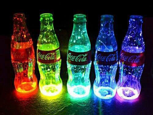 50+ Glow Stick Ideas - Glow In The Dark Coke Bottle