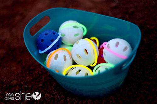 50+ Glow Stick Ideas - Glow Stick Baseballs