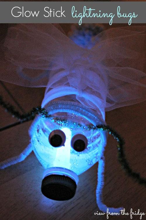 50+ Glow Stick Ideas - Glow Stick Lightning Bugs