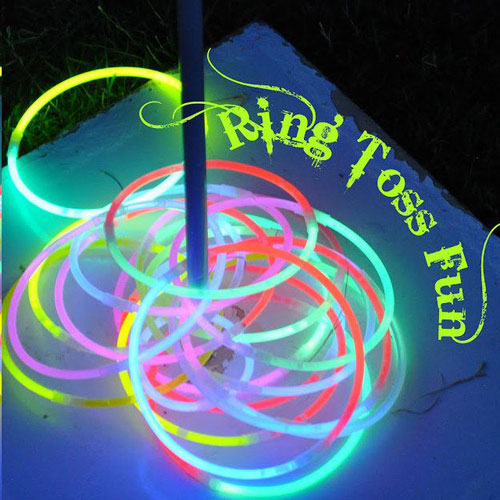 50+ Glow Stick Ideas - Glow Stick Ring Toss