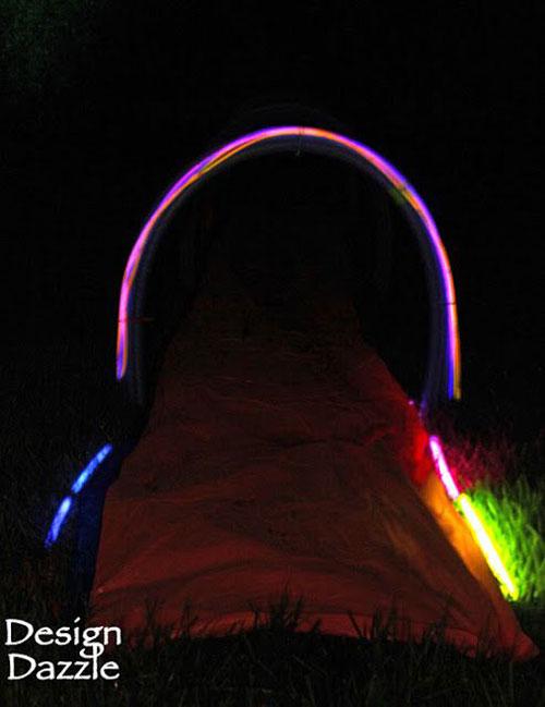 50+ Glow Stick Ideas - Glow Stick Slip 'N Slide