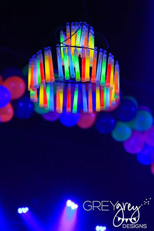 50+ Glow Stick Ideas - Glow Sticks Chandelier