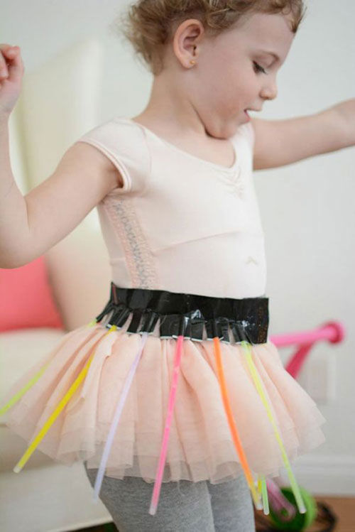 50+ Glow Stick Ideas - Glow in the Dark Ballerina Tutu
