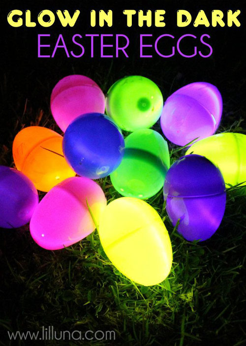 50+ Glow Stick Ideas - Glow in the Dark Easter Eggs