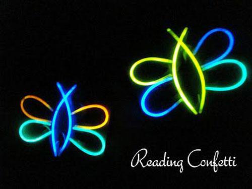 50+ Glow Stick Ideas - Glow in the Dark Fireflies