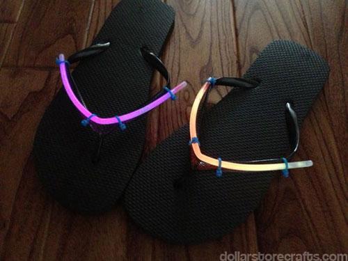 50+ Glow Stick Ideas - Glow in the Dark Flip Flops