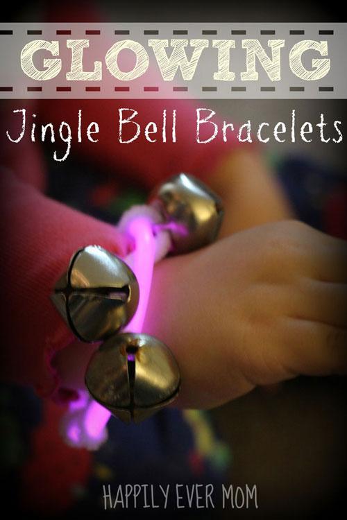 50+ Glow Stick Ideas - Glow in the Dark Jingle Bell Bracelets