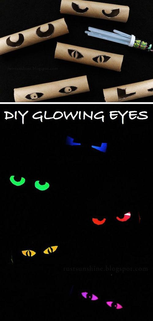 50+ Glow Stick Ideas - Glowing Eyes