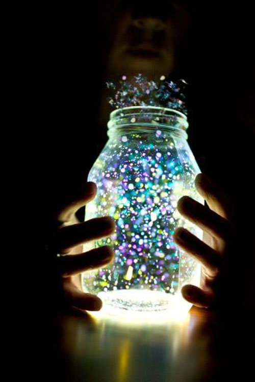 50+ Glow Stick Ideas - Glowing Fairy Jar