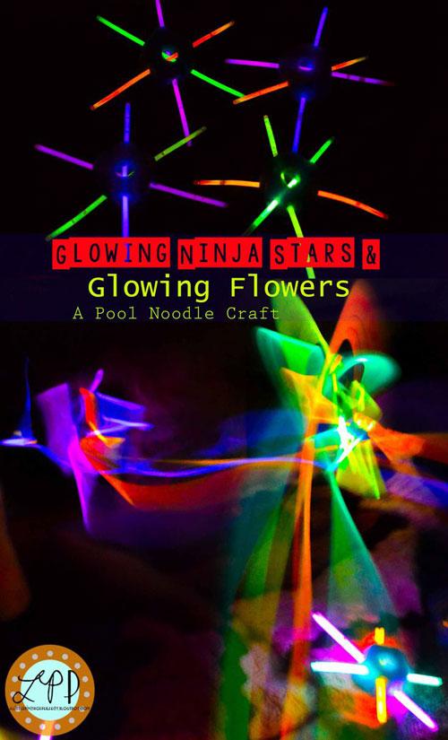 50+ Glow Stick Ideas - Glowing Ninja Stars