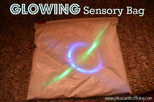 50+ Glow Stick Ideas - Glowing Sensory Bag