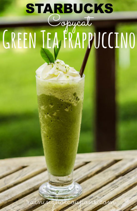 50+ Homemade Starbucks Recipes - Green Tea Frappuccino