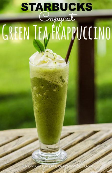 50+ Homemade Starbucks Recipes - Green Tea Frappuccino