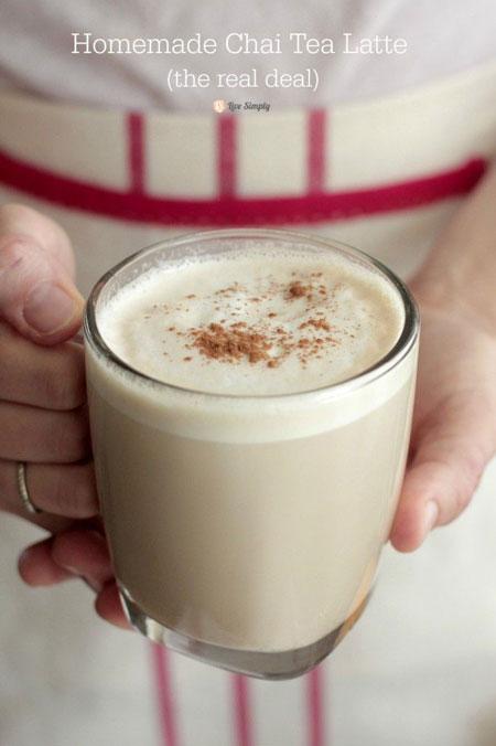 50+ Homemade Starbucks Recipes - Homemade Chai Tea Latte
