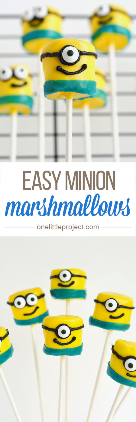 Easy Minion Marshmallows