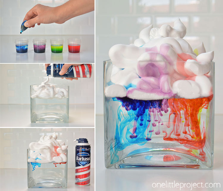 STEM Shaving Cream Clouds