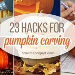 23 Clever Pumpkin Carving Hacks