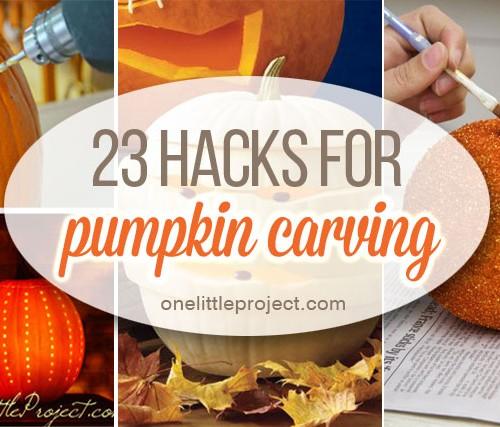 Pumpkin Carving Hacks