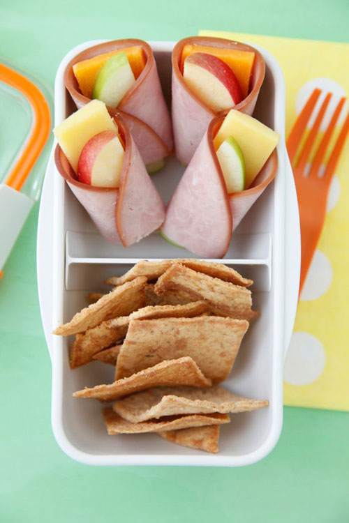Non-Sandwich Lunch Ideas - Apple Cheese Wraps