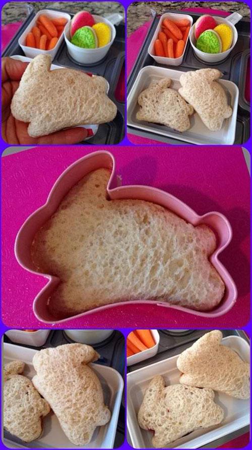 Lunch Box Hacks - Bunny Sandwich