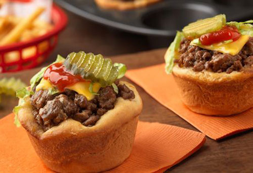 Non-Sandwich Lunch Ideas - Cheeseburger Minis