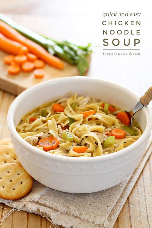 Non-Sandwich Lunch Ideas - Chicken Noodles