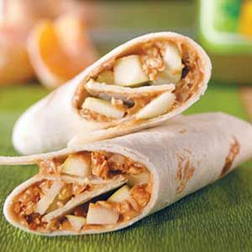 Non-Sandwich Lunch Ideas - Crunchy PB and a Wrap