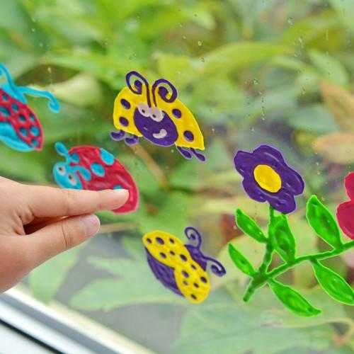 DIY Ladybug Window Clings