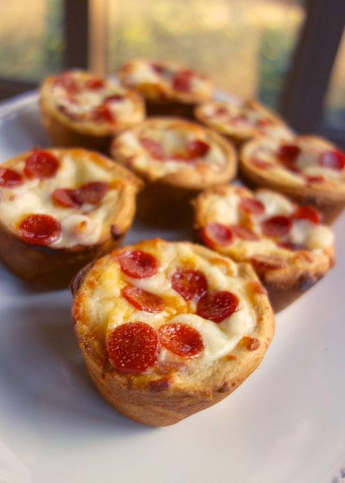 Non-Sandwich Lunch Ideas - Deep Dish Pizza Cupcakes