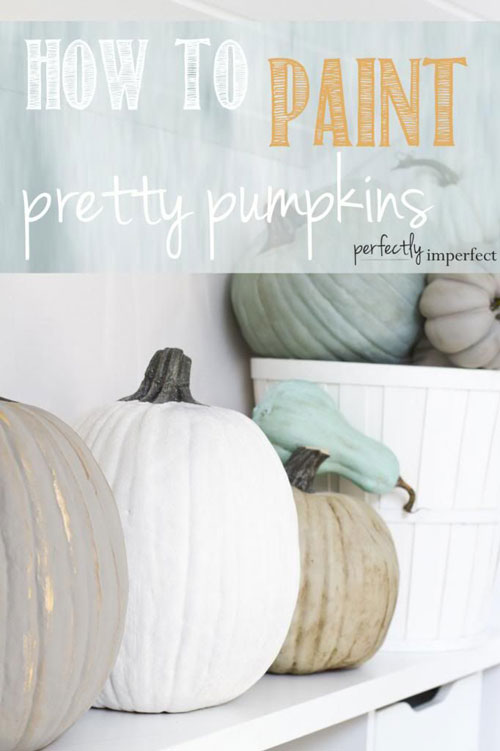 Pumpkin Carving Hacks - How to Paint Pretty Pumpkins