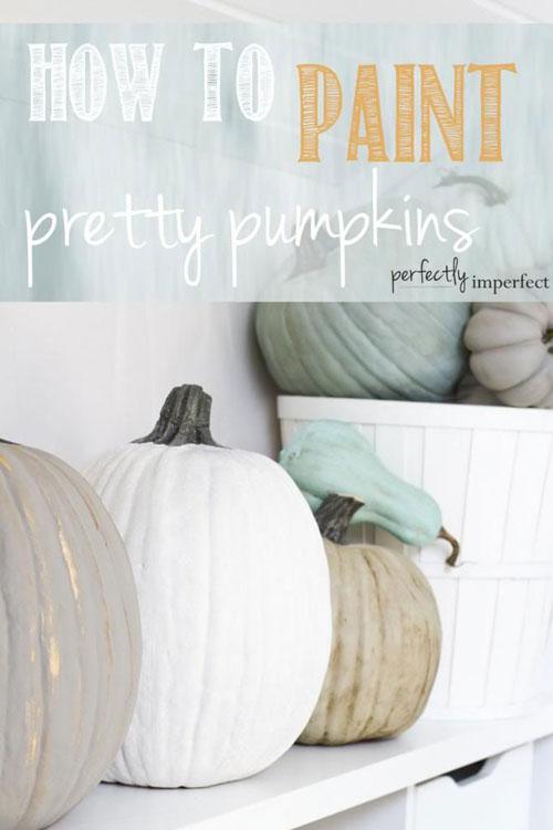 Pumpkin Carving Hacks - How to Paint Pretty Pumpkins