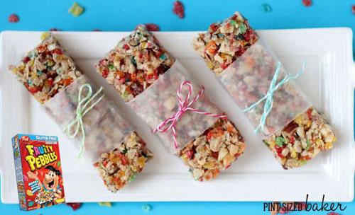 Non-Sandwich Lunch Ideas - Fruity Pebbles Granola Bars