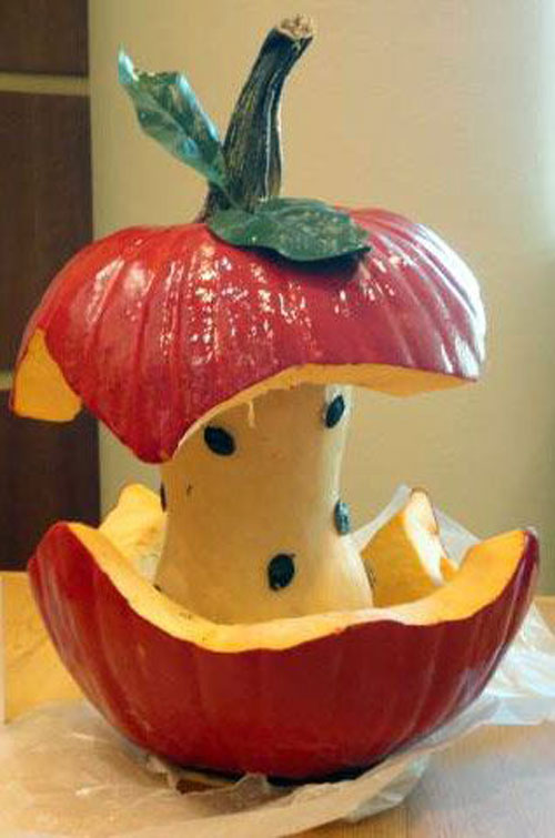 Pumpkin Carving Hacks - Gourd Apple Core