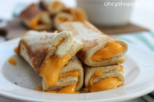 Non-Sandwich Lunch Ideas - Grilled Cheese Roll Ups
