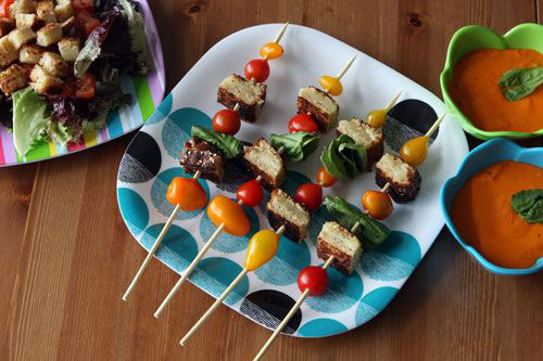 50+ Food on a Stick Lunch Ideas - Grilled Cheese & Tomato