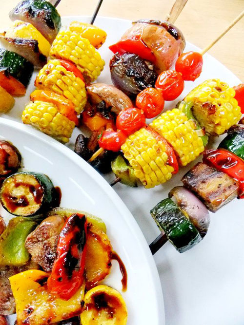 50+ Food on a Stick Lunch Ideas - Grilled Vegetable Skewers