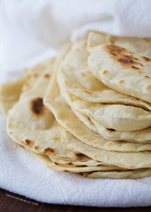 30+ Things You Can Make Yourself - Homemade Flour Tortillas