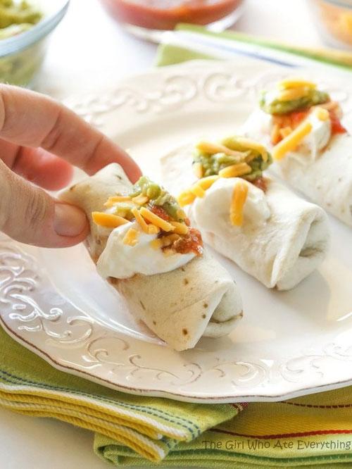Non-Sandwich Lunch Ideas - Mini Burritos