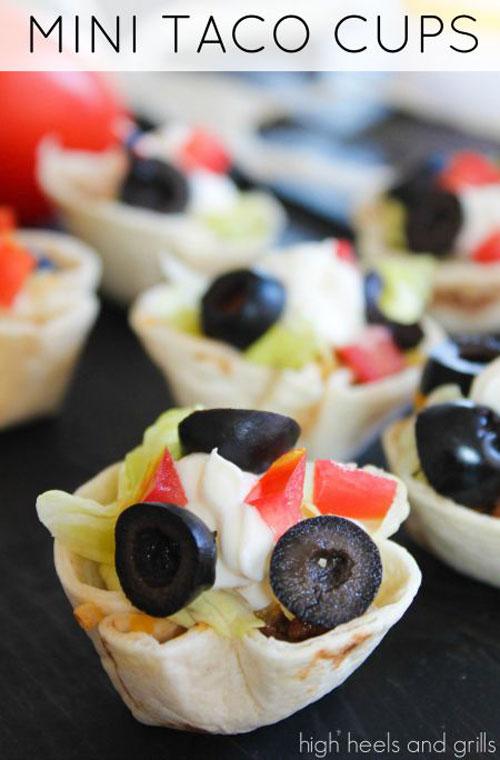 Non-Sandwich Lunch Ideas - Mini Taco Cups