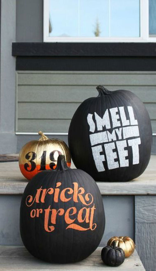 Pumpkin Carving Hacks - Chalkboard Pumpkins