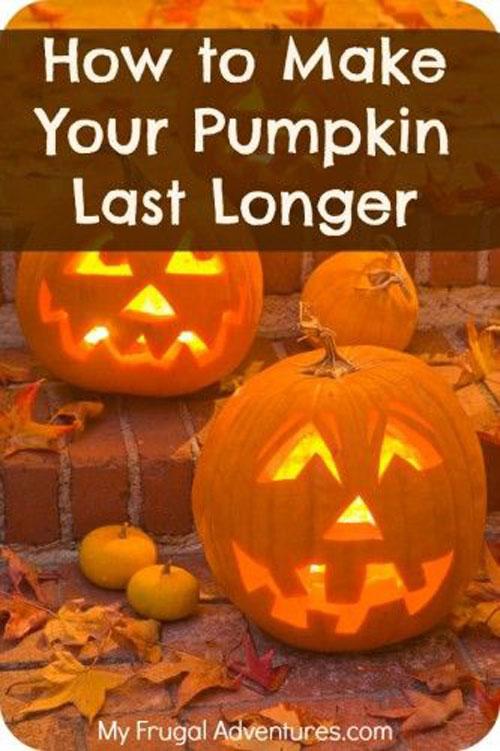 Pumpkin Carving Hacks - Preserving Jack O' Lanterns