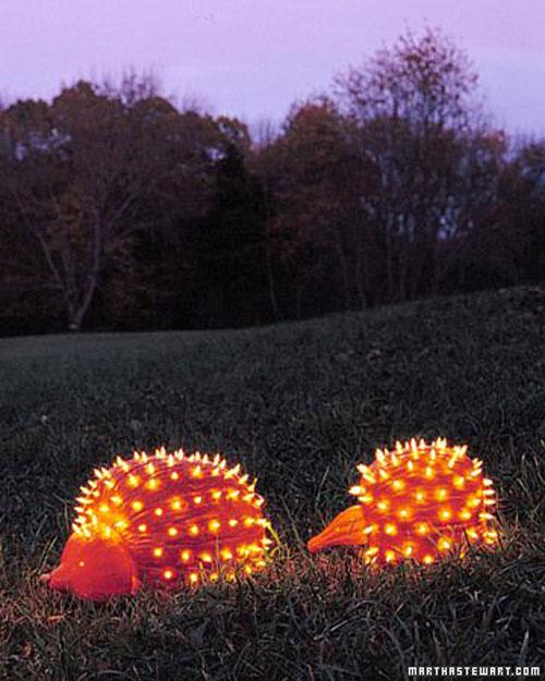 Pumpkin Carving Hacks - Pumpkin Porcupines