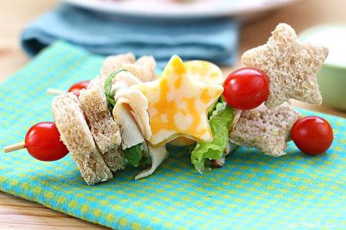 Non-Sandwich Lunch Ideas - Sandwich Kabobs