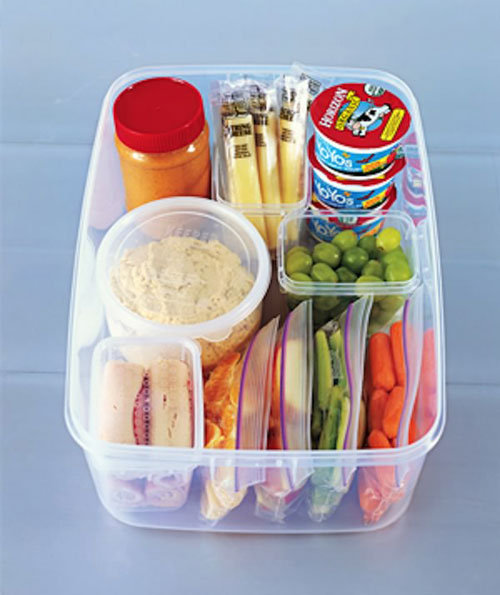 Lunch Box Hacks - Snack Container Veggies