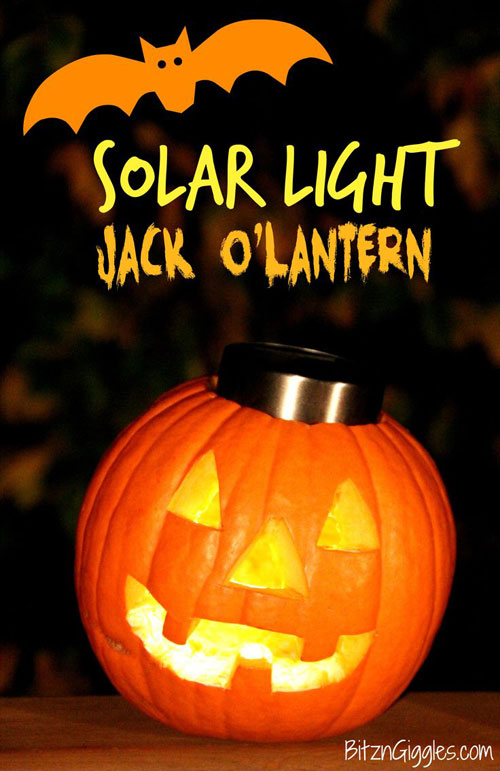 Pumpkin Carving Hacks - Solar Light Jack O'Lantern