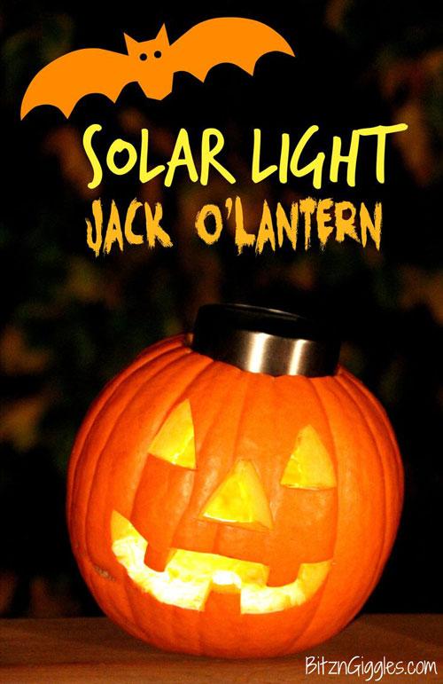 Pumpkin Carving Hacks - Solar Light Jack O'Lantern