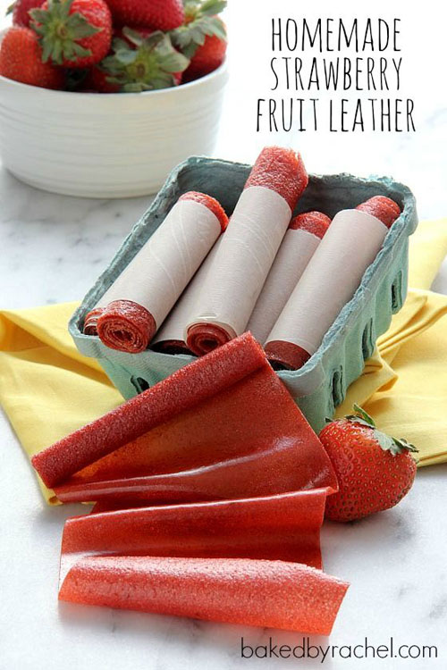 30+ MORE Foods You Can Make Yourself - Strawberry Fruit Leather