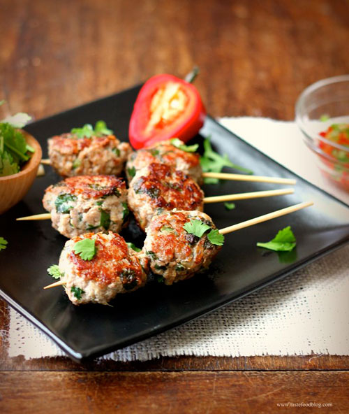 50+ Food on a Stick Lunch Ideas - Turkey Meatballs