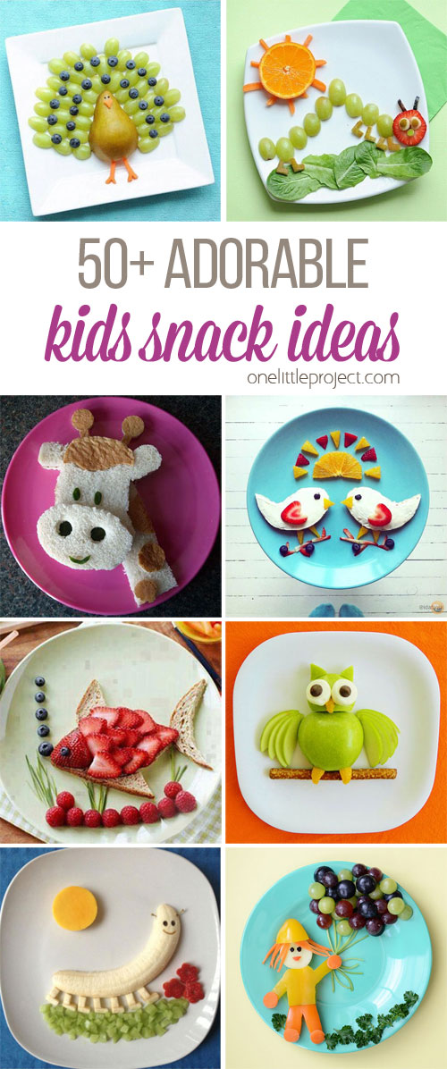 50 Adorable Kids Snack Ideas