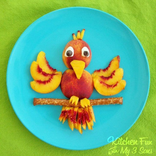 50+ Kids Food Art Lunches - Cute Bird Snack